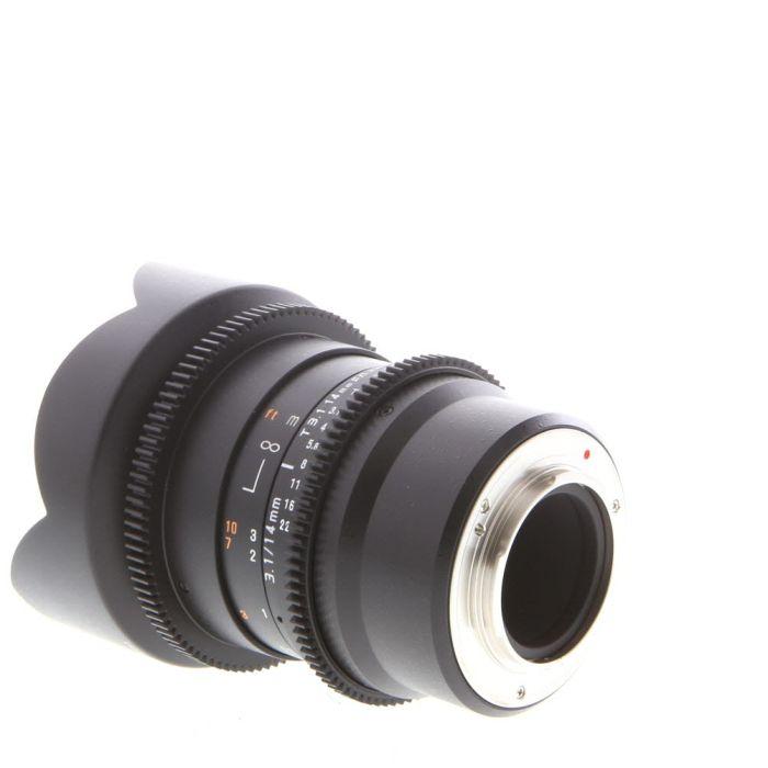 Rokinon Cine 14mm T3.1 ED AS UMC II (DS) Manual Lens for Micro Four Thirds MFT Mount, Black
