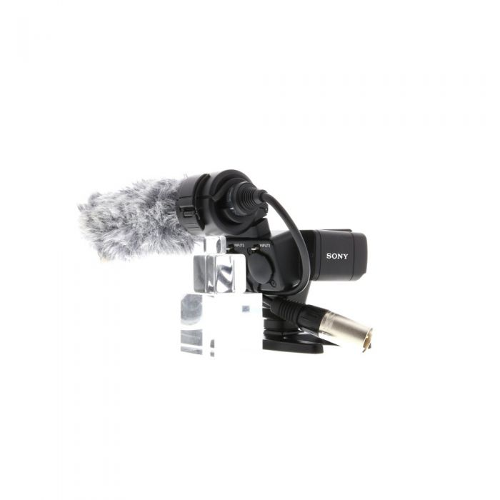 Sony XLR-K2M XLR Adapter Kit with Shotgun XLR Condenser Microphone ECM-XM1, XLR-A2M Adapter with Multi-Interface Shoe
