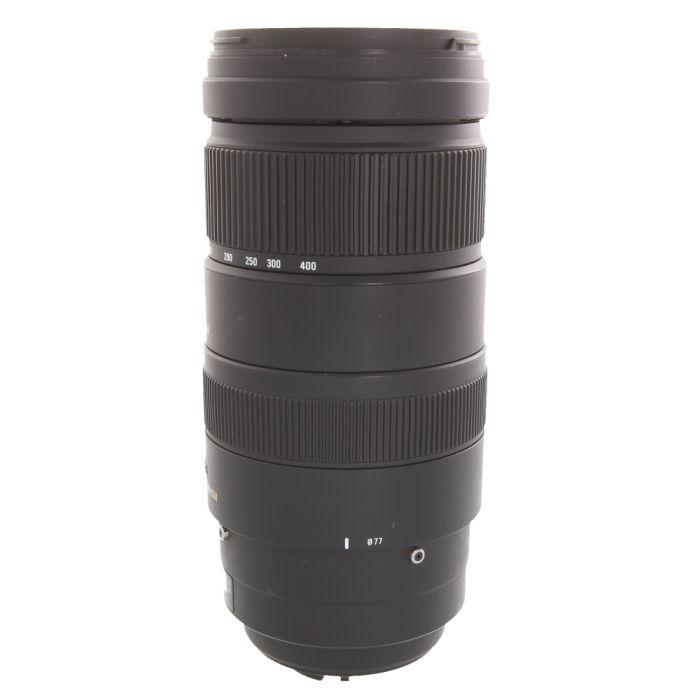 Sigma 120-400mm F/4.5-5.6 APO DG HSM OS without Tripod Collar, Autofocus Lens For Nikon {77}