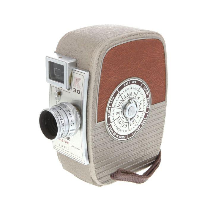 Keystone K30 Capri Deluxe 8mm Movie Camera with 1/2