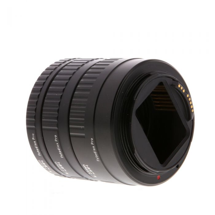 Fotodiox Pro Extension Tube Set 13, 21, 31 Auto With Electrical Contacts, for Canon EOS EF/EF-S Mounts