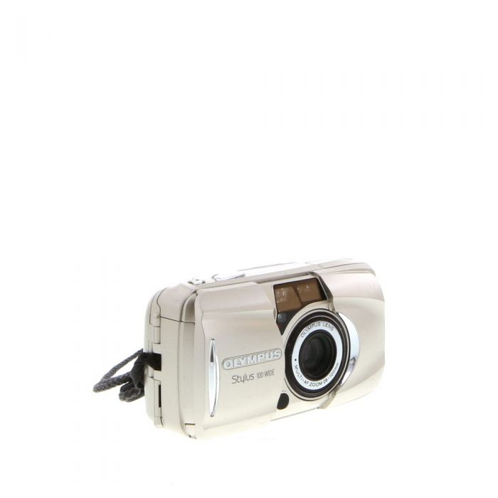 Olympus Stylus 100 Wide 28-100, Quartz Date, 35mm Camera, All Weather Champagne