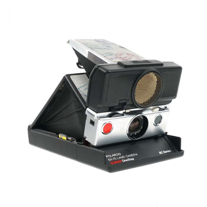 Polaroid SX-70 Sonar One Step BC Series Camera with Passport Stamp Replacement Skin
