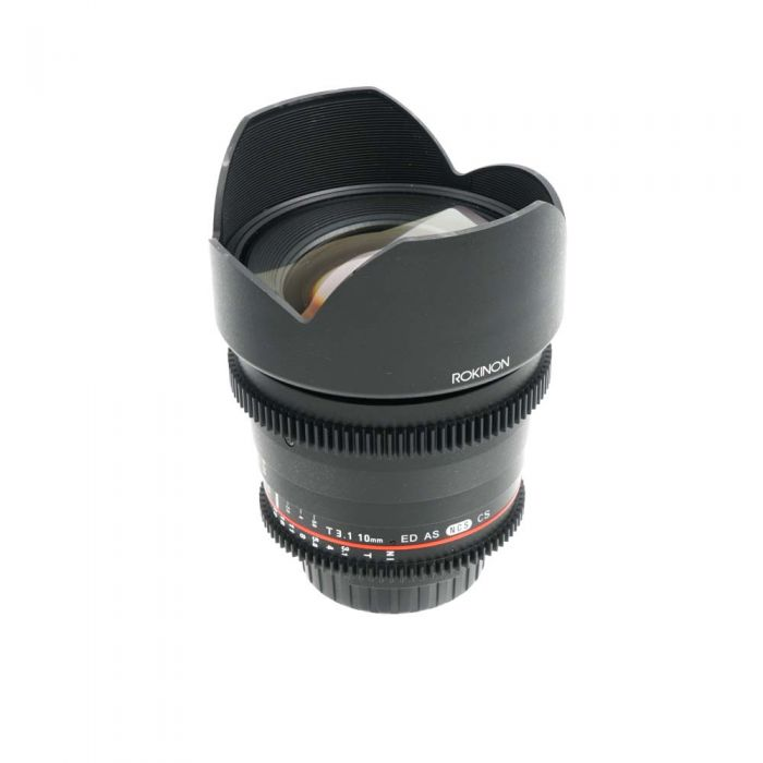 Rokinon Cine 10mm T3.1 ED AS NCS CS Manual Lens for Nikon, Black