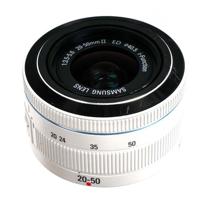 Samsung 20-50mm F/3.5-5.6 II ED I-Function (NX) White Lens {40.5}