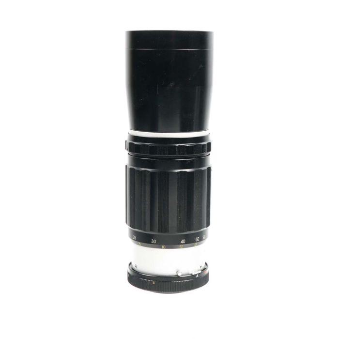Sankyo Kohki 300mm F/5 Super Komura Uni Auto Black/Chrome M42 Screw Mount Manual Focus Lens {62}
