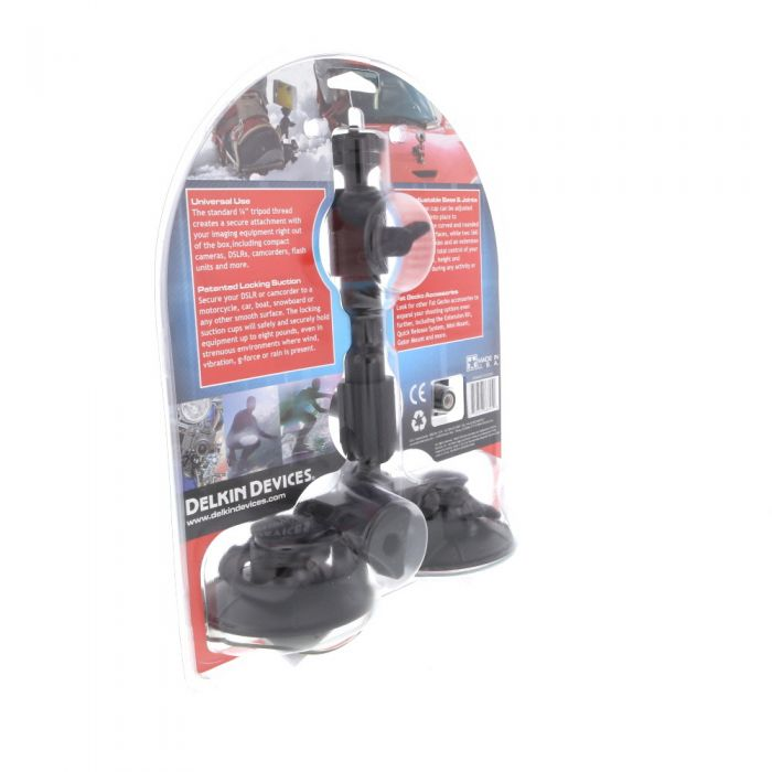 Delkin Devices Fat Gecko Dual-Suction Camera Mount with Ball Head