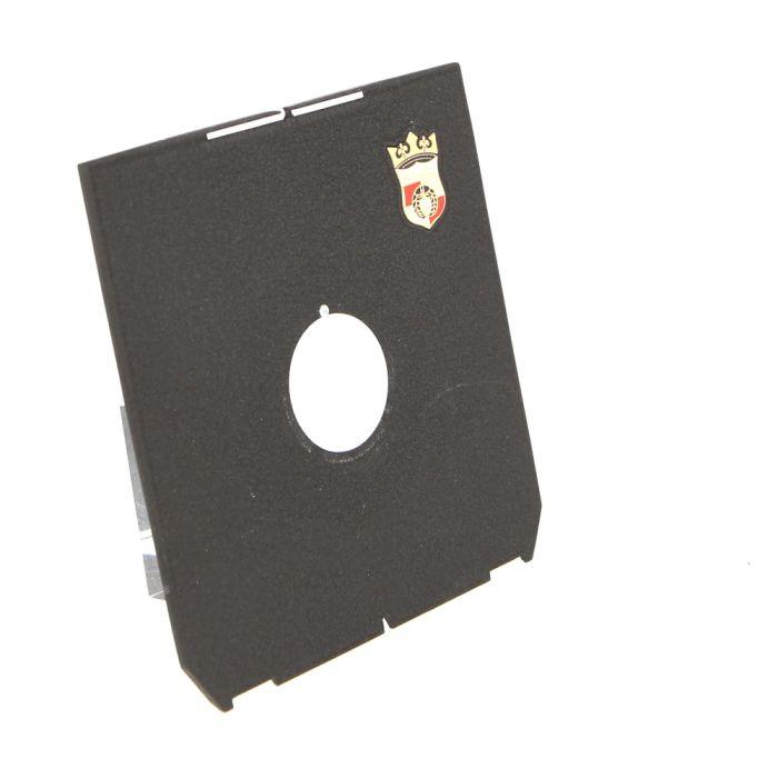 Wista 4X5 25mm Hole, Notched Lens Board, Black (Linhof Tech IV/V/M)