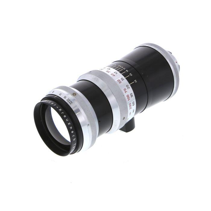 Schneider 240mm F/4.5 Tele-Xenar Black/Chrome Manual Aperture, Manual Focus Lens For Exakta Mount {Series VII}