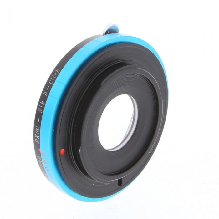 Fotodiox Pro Pentax K-Mount Lens to Nikon F-Mount with D-Clicked Aperture Control (PK(a)-Nik)