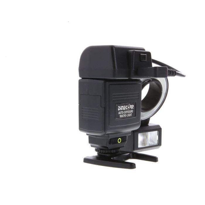 Dine Corp. Auto-Exposure Macro-Light Model 2000 (Point, Ring Source) (52mm Mount) [GN80] with Sunpak PT-2D Module