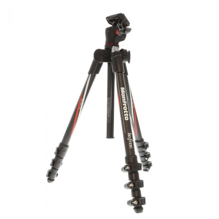 Manfrotto Befree Compact Travel Carbon Fiber Tripod with Ball Head, 4-Section, Black, 16-56.7 in. (MKBFRC4-BH)