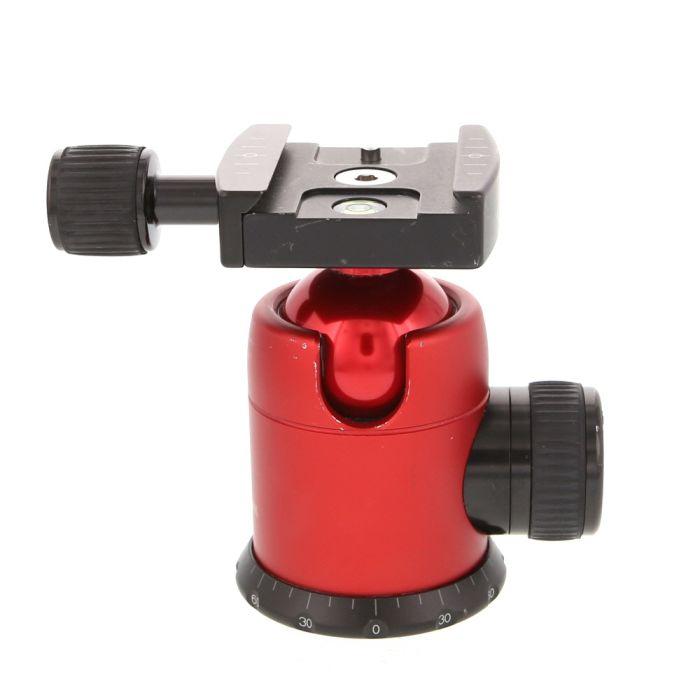 Markins Q-Ball Q3i Traveler Ballhead Tripod Head with Knob Release Quickshoe, Red (Requires Quick Release Plate)