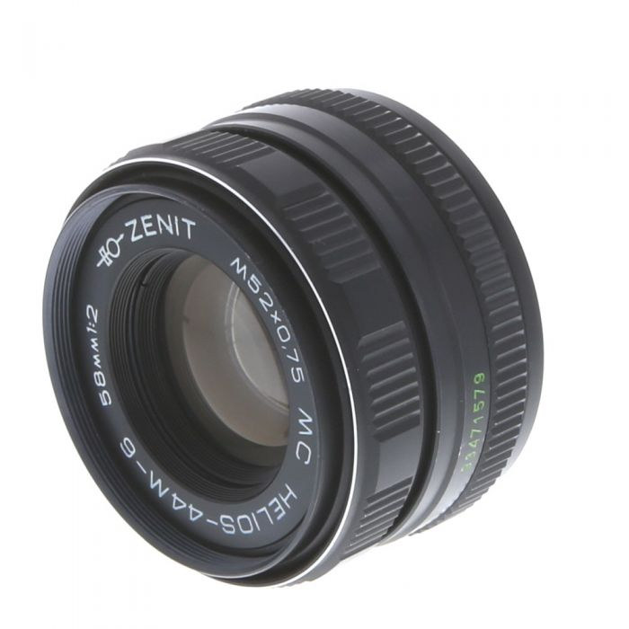 Zenit 58mm f/2 Helios 44M-6 Manual Focus Lens for M42 Screw Mount, Black {52}