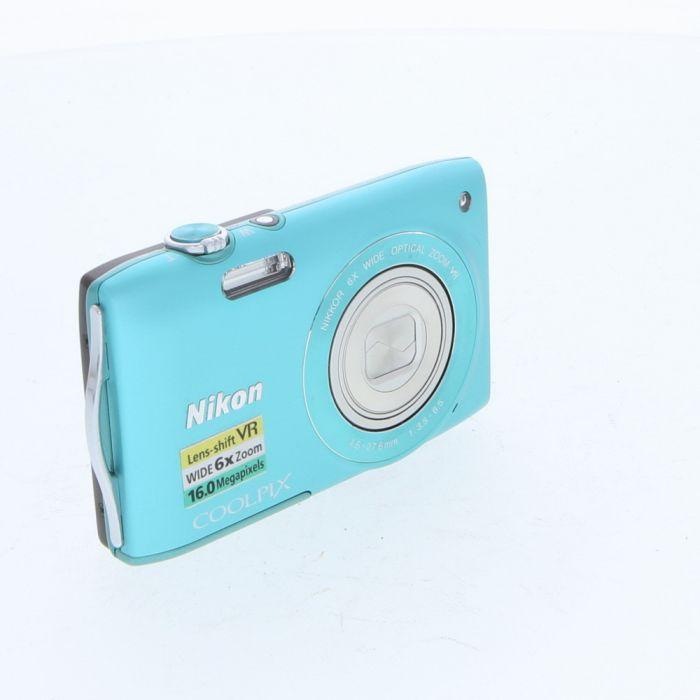 Nikon Coolpix S3300 Digital Camera, Green {16MP}