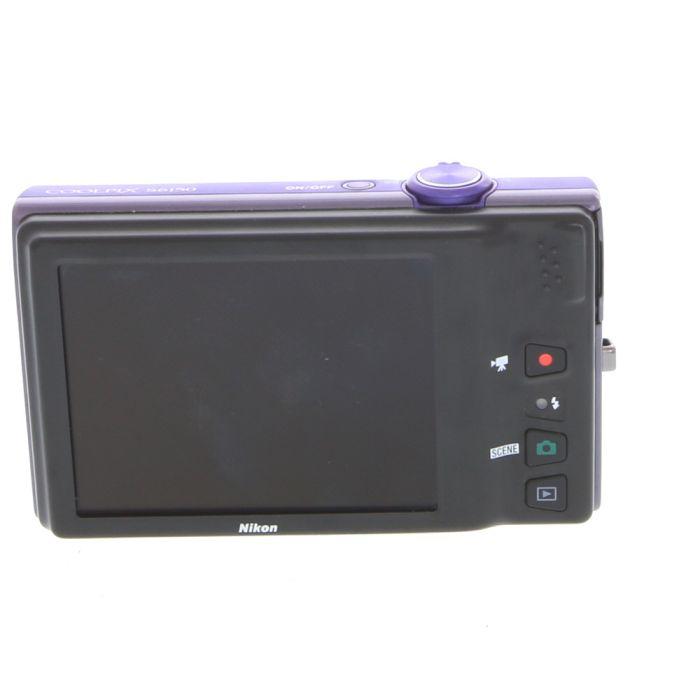 Nikon Coolpix S6150 Digital Camera, Violet {16MP}