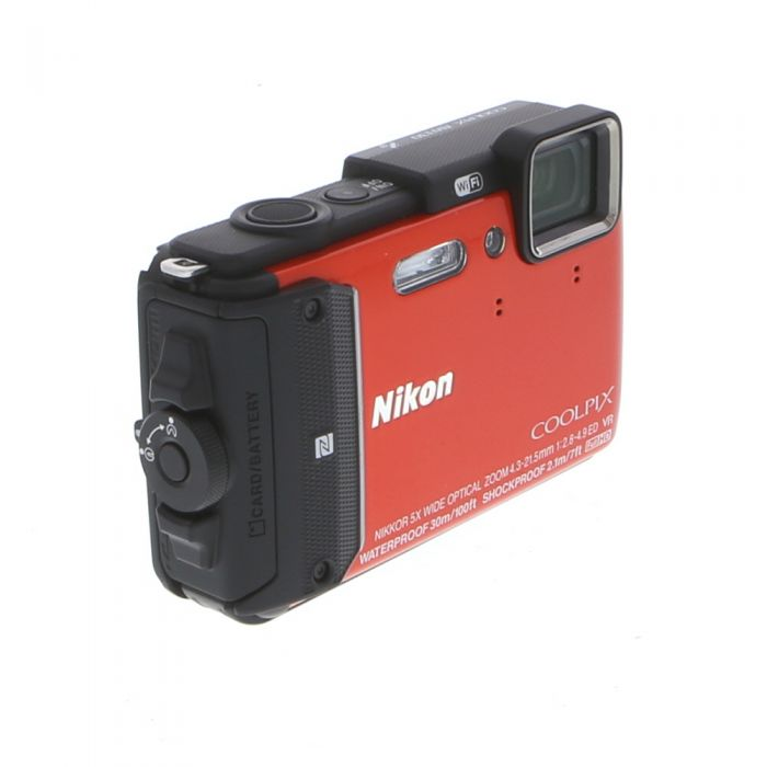 Nikon Coolpix AW130 Waterproof Underwater Digital Camera, Orange {16MP}