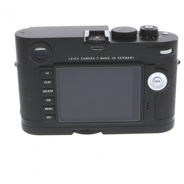 Leica M (Typ 240) Digital Camera Body, Black Paint Finish {24MP} with Handgrip M (14496)