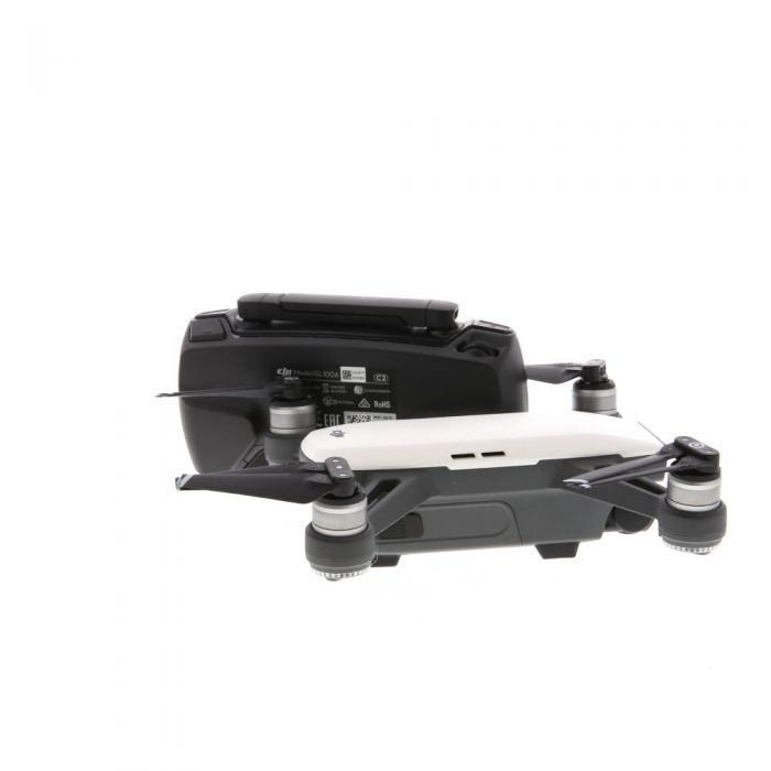 DJI Spark Quadcopter Drone, Alpine White, with Fly More Combo Kit (Requires MicroSD Card)