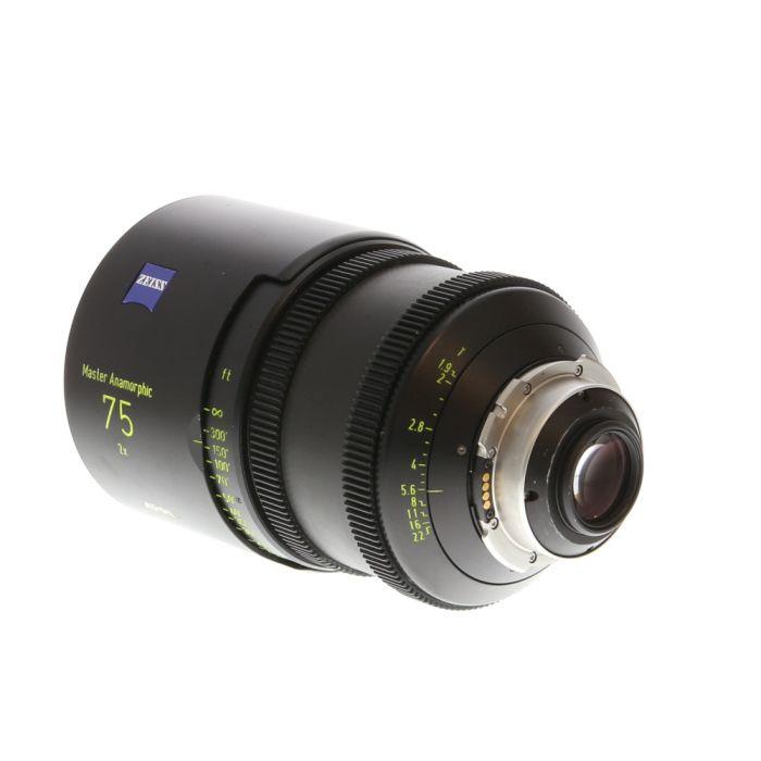 Arri Zeiss 75mm T1.9 Master Anamorphic (PL LDS Mount) Lens In Feet
