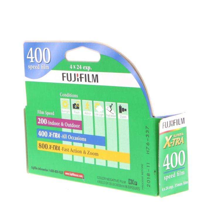 Fujifilm FujiColor CH-135-24 (ISO 400) 35mm Color Negative Film (Pack Of 4 Rolls)