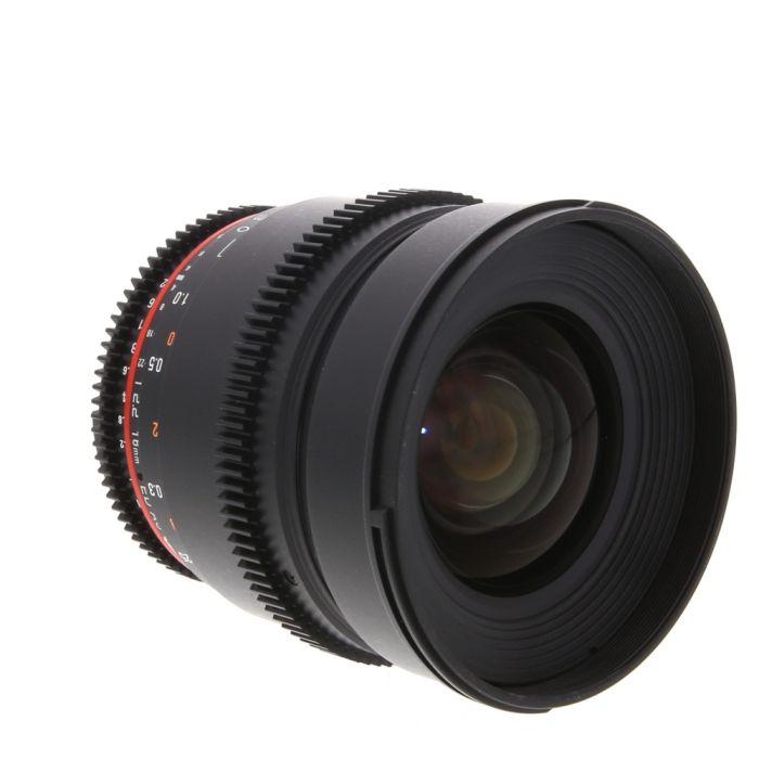Rokinon Cine 16mm T2.2 AS ED UMC CS II (DS) Manual Lens for Nikon