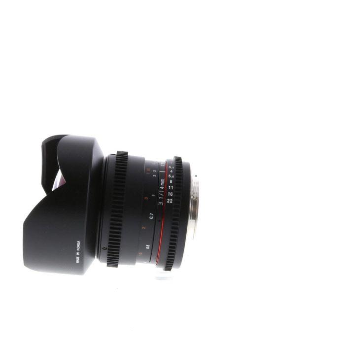 Samyang Cine 14mm T3.1 ED AS IF UMC Manual Lens For Canon EF Mount