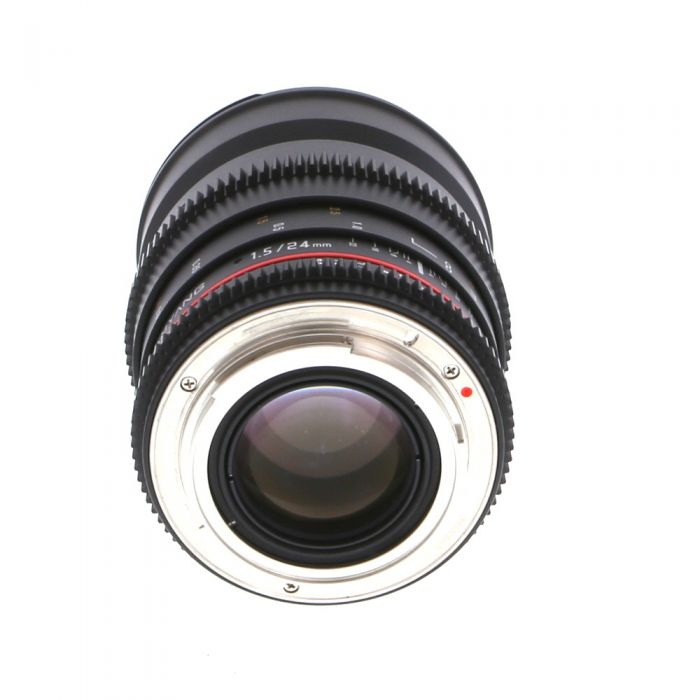 Samyang Cine 24mm T1.5 ED AS IF UMC Lens Manual for Canon EF-Mount {77}