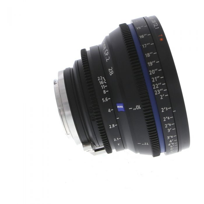 Zeiss 28mm T2.1 Compact Prime CP.2 Distagon T* Manual Focus Manual Aperture Lens In Feet For Canon EF Mount