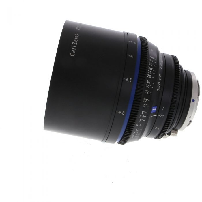 Zeiss 100mm T2.1 Compact Prime CP.2 Planar T* Manual Focus Manual Aperture Lens In Feet For Canon EF Mount