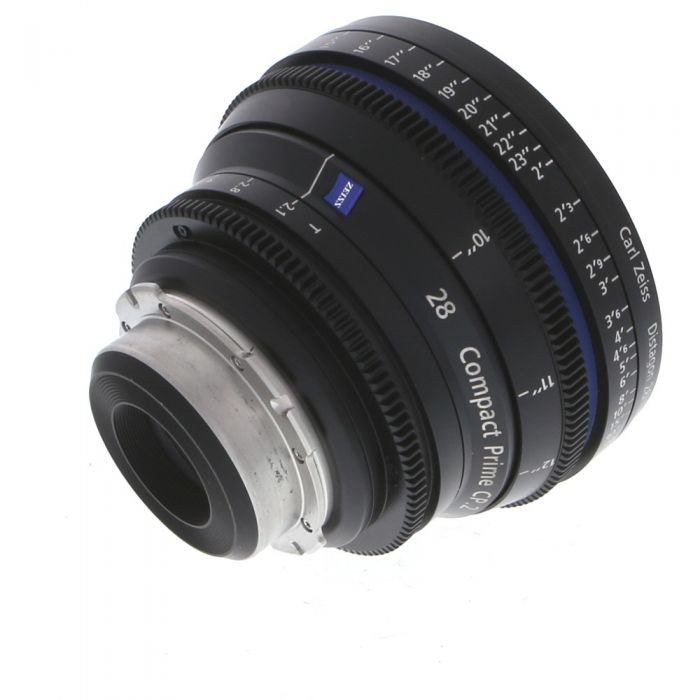 Zeiss 28mm T2.1 Compact Prime CP.2 Distagon T* (Feet) PL Mount Lens