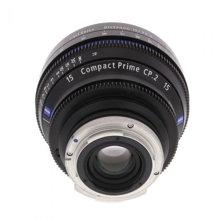 Zeiss 15mm T2.9 Compact Prime CP.2 Distagon T* Manual Focus Manual Aperture Lens In Feet For Canon EF Mount
