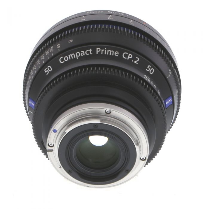 Zeiss 50mm T2.1 Compact Prime CP.2 Planar T* Manual Focus Manual Aperture Lens In Feet For Canon EF Mount