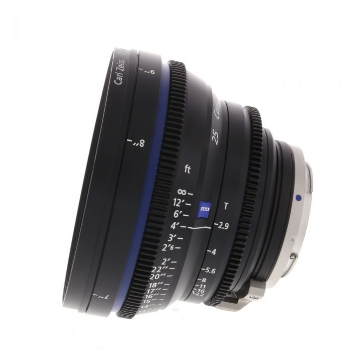 Zeiss 25mm T2.9 Compact Prime CP.2 Distagon T* Manual Focus Manual Aperture Lens In Feet For Canon EF Mount