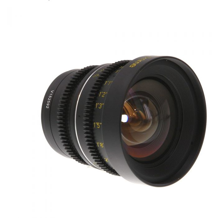 Veydra 12mm T2.2 Mini Prime (Manual Aperture, Manual Focus) Lens in Feet For Micro Four Thirds System {77}