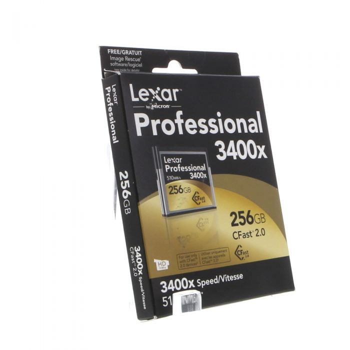 Lexar 256GB 510 MB/Second 3400X Proessional CFast 2.0 (For Cameras Based On CFast 2.0 Technology)
