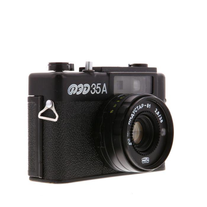 Fed 35A with 38mm F/2.8 Industar-81 (CCCP) Black 35mm Camera