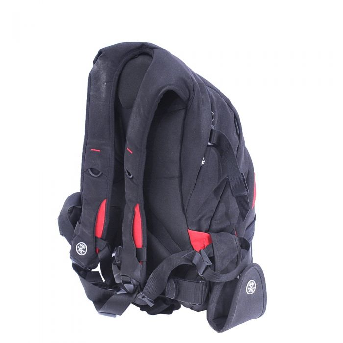 Crumpler Sinking Barge Bag, Black/Red, 15.2x19.8x10.5 in.