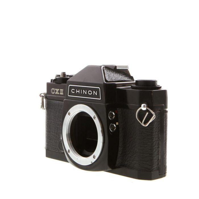 Chinon CX II M42 Mount 35mm Camera Body, Black