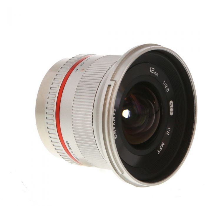 Samyang 12mm f/2.0 NCS CS Manual Focus, Manual Aperture Lens For Micro Four Thirds System, Silver {67}