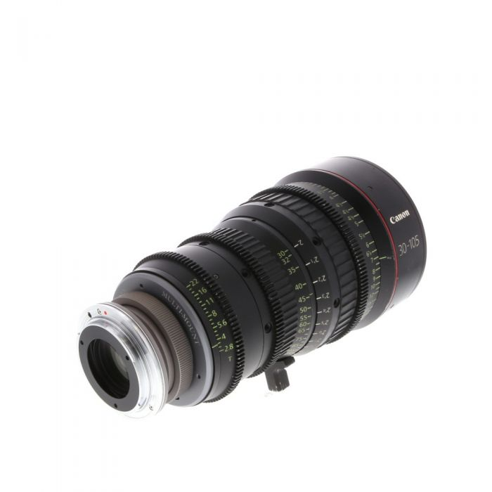 Canon CN-E 30-105mm T2.8 L S Cine Zoom Lens with Duclos Lenses Multi-Mount EF Mount Adapter