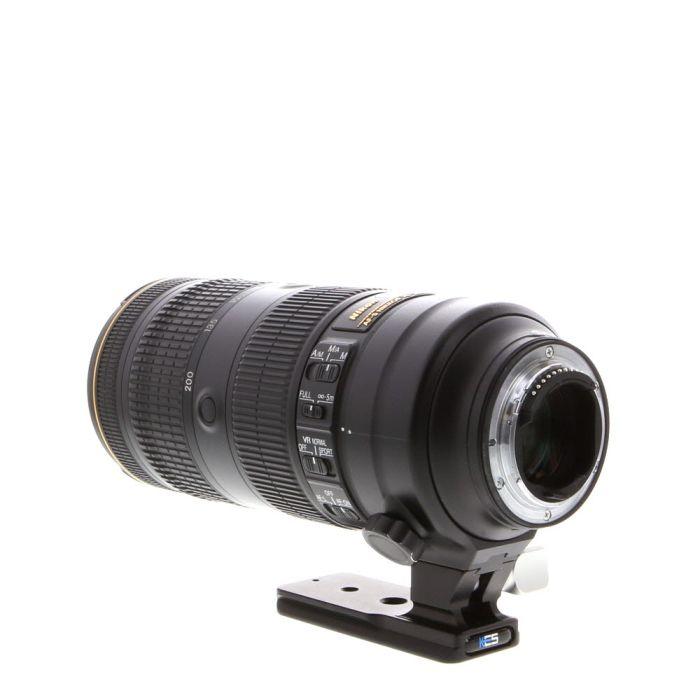 Nikon Nikkor 70-200mm f/2.8 E FL ED VR AF-S Autofocus Lens with Kirk LP-64 Tripod Collar {77}