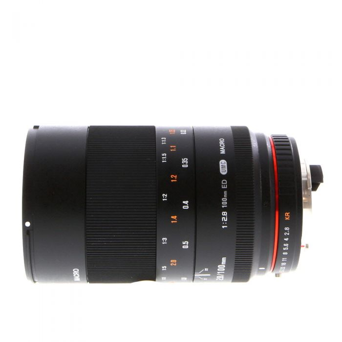 Rokinon 100mm f/2.8 ED UMC Macro Manual Focus Lens for Pentax K-Mount {67}