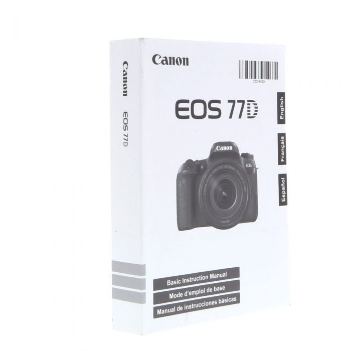 Canon EOS 77D Basic Instructions
