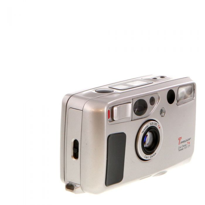 Kyocera T Proof with Zeiss 35mm F/3.5 T* Silver 35mm Camera