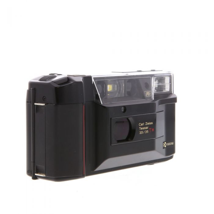 Kyocera TD with Zeiss 35mm F/3.5 T* Black with Date Back, 35mm Camera