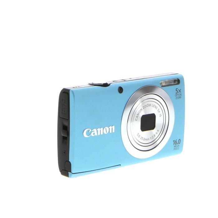 Canon Powershot A2400 IS Digital Camera, Blue {16 M/P}