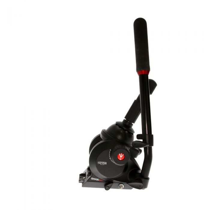 Manfrotto 504HD Fluid Video Tripod Head with 75mm Leveling Half Ball, a Single 509HLV Handle