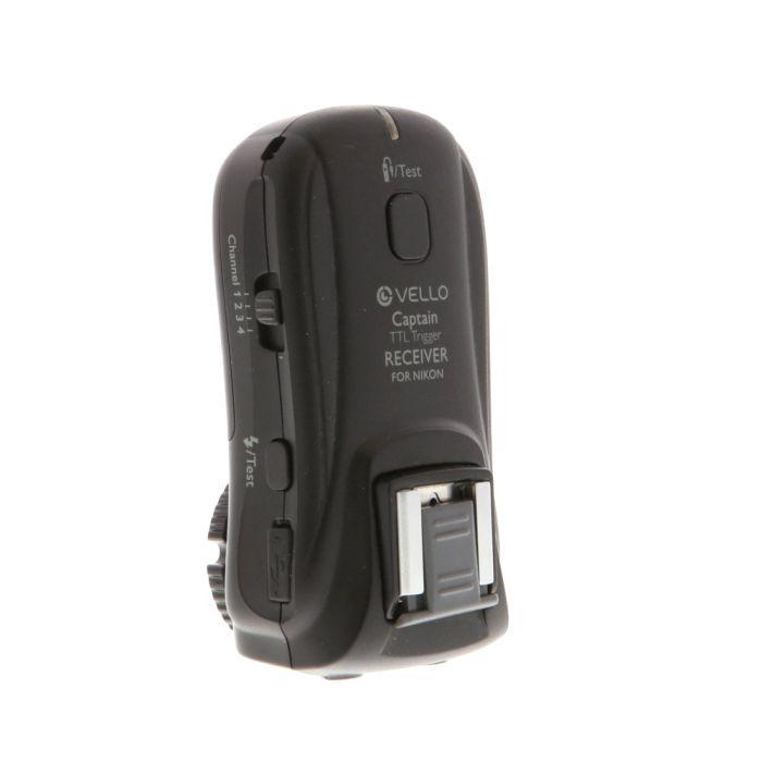 Vello FreeWave Captain Wireless TTL Receiver for Nikon i-TTL