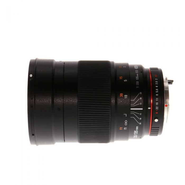 Rokinon 135mm f/2 ED UMC Manual Focus Lens For Pentax K-Mount {77}